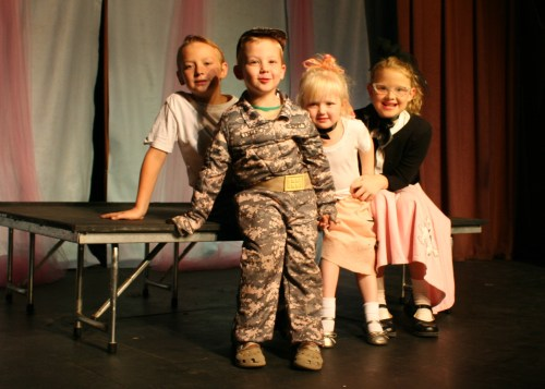 """Ellisville Opera House, 2012 ... Tom, Ben, Ali & Jac as part of the Spoon River Rascals cast of """"Those Fabulous 50s & 60s"""""""